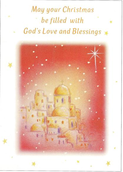 "Bethlehem - ""May your Christmas be filled with God's Love and Blessings"""